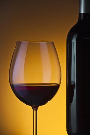 Weinflasche und Glas Standard-Bild - 11750389