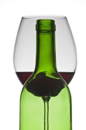 Wein Flasche und Glas Standard-Bild - 11750242