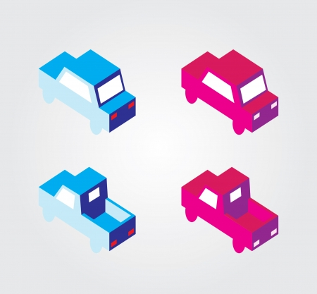 Simple web icon in vector  isometric transport Vector