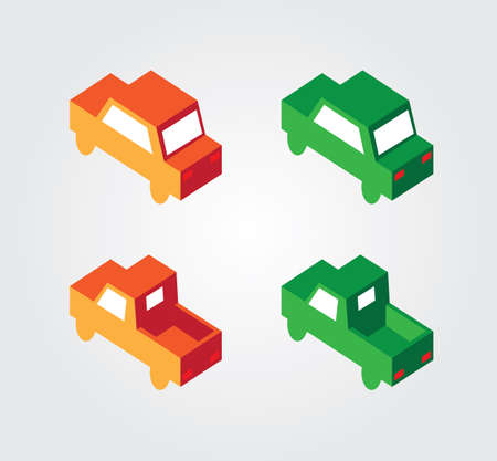 Simple web icon in isometric transport Vector