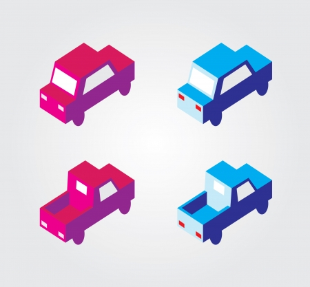 pick light: Simple web icon in isometric transport Illustration