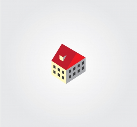 city building: Simple web icon in isometric city building Illustration