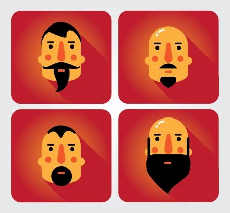 emot: Simple web Illustration  beards and mustaches Illustration