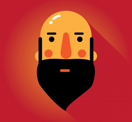 Simple web Illustration  beards and mustaches Vector