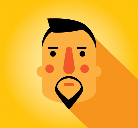 Simple web Illustration  beards and mustaches Illustration