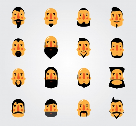 Simple web Illustration  beards and mustaches Stock Illustratie