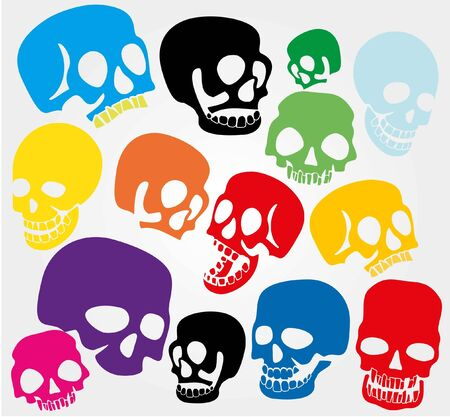 vector skull danger sign: Simple web icons: skull