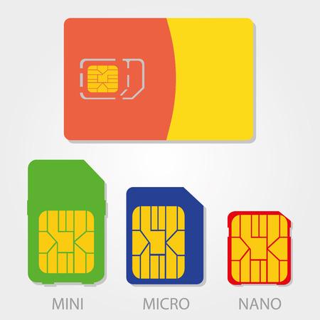 Simple icon: Sim Card