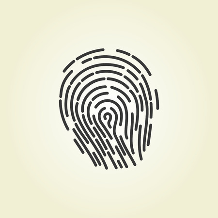 fingermark: Simple icon: Fingerprint Illustration