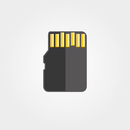 memory: Simple icon: Memory Card Illustration