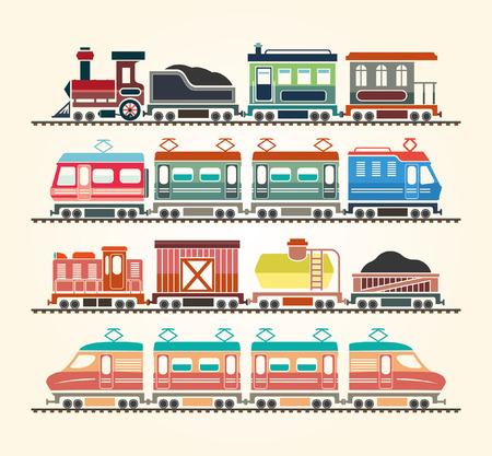 Eenvoudige Pictogrammen van het Web: Trein Stock Illustratie