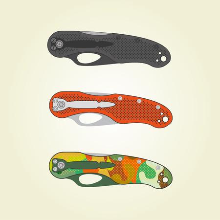 fiambres: Plegable cuchillos de bolsillo