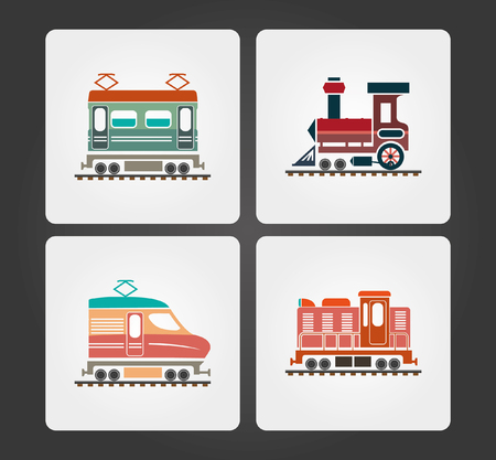 train: Simple Web Icons: Train Illustration