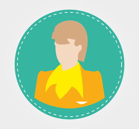 one on one meeting: Simple icons: Silhouettes of business people Illustration