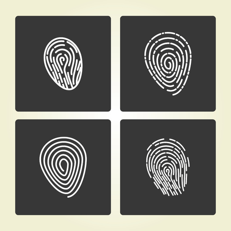 ides: Simple icon: Fingerprint Illustration