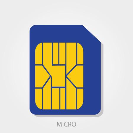 prepaid: Simple icon: Micro Sim Card Illustration