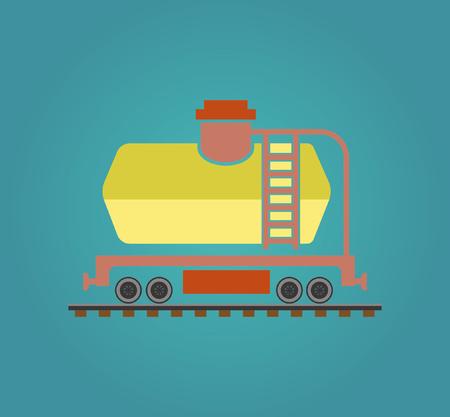 railway transport: A simple illustration of the railway transport.