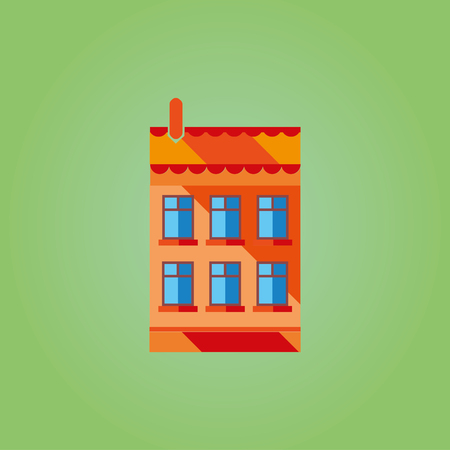 structured: Illustrations brightly colored houses. Are structured can a city or street. Excellent varinant for applications.