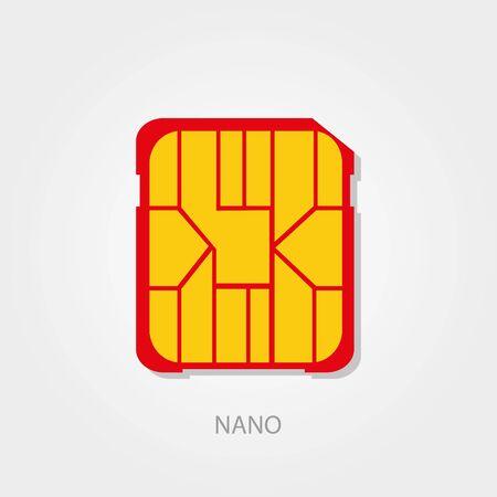 prepaid: Simple icons: Sim Card