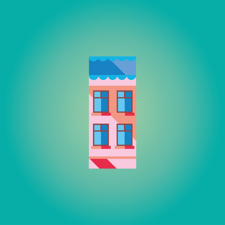 cartoon building: Illustrations brightly colored houses