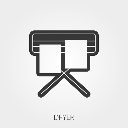dryer: Simple Household Web Icons: Dryer