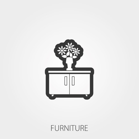 bookstand: Simple Household Web Icons: Furniture Illustration