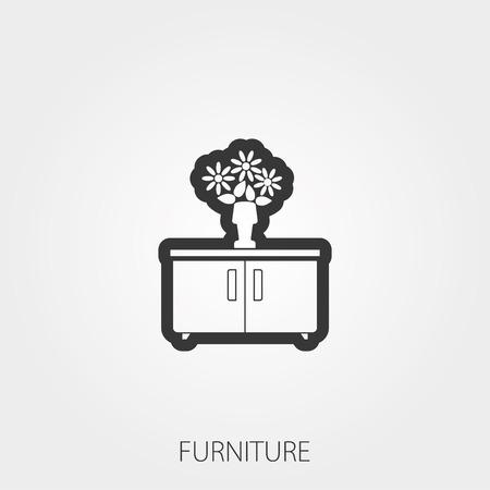 Simple Household Web Icons: Furniture Ilustracja