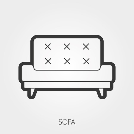 loveseat: Simple Household Web Icons: Upholstered furniture