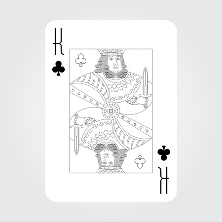 royal family: Single playing cards vector: King of Clubs