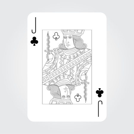jack of clubs: Single playing cards vector: Jack of Clubs