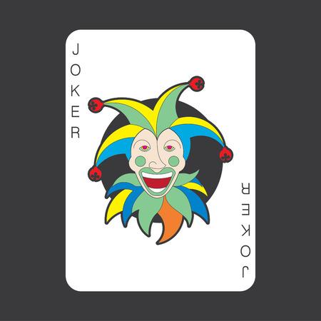 Single playing cards vector: Joker