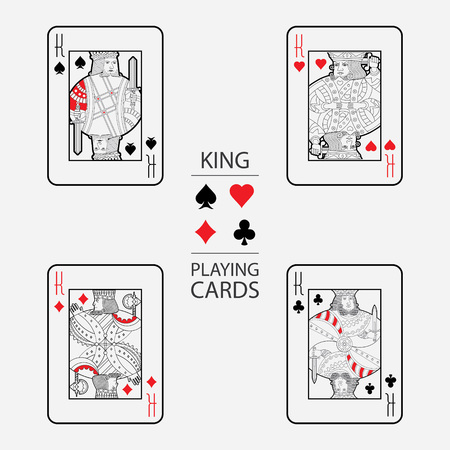 Set of playing cards vector: King