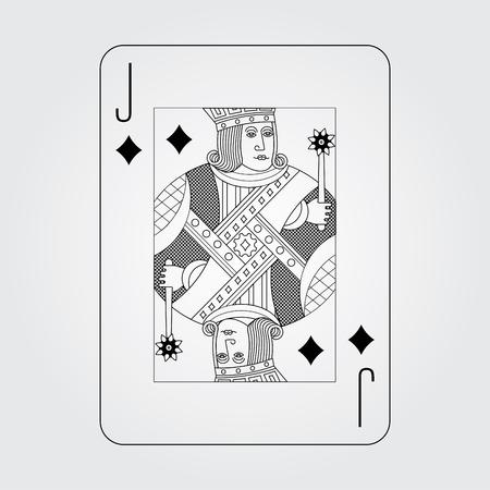 jack of diamonds: Single playing cards vector: Jack Diamonds Illustration