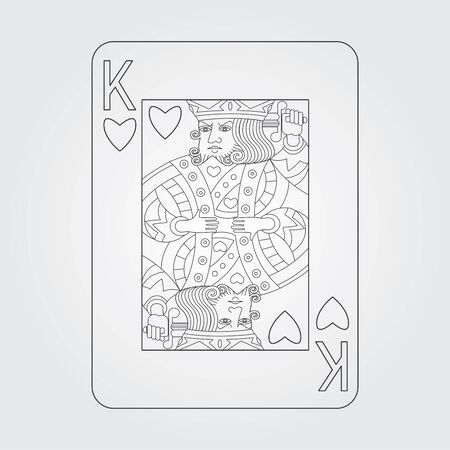 king of hearts: Single playing cards vector: King of Hearts
