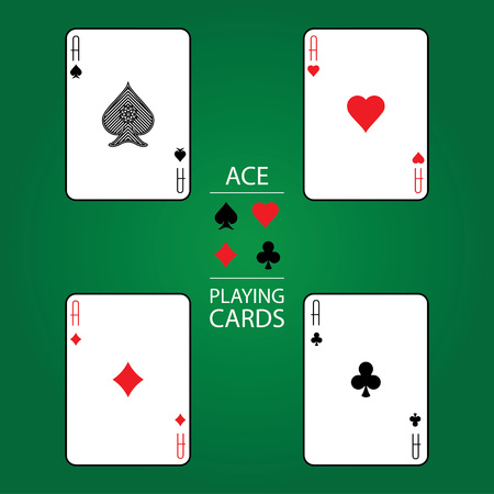 ace: Set of playing cards vector: Ace