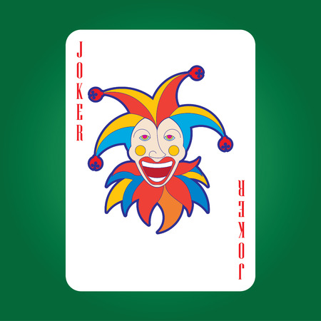 Single playing cards vector: Joker
