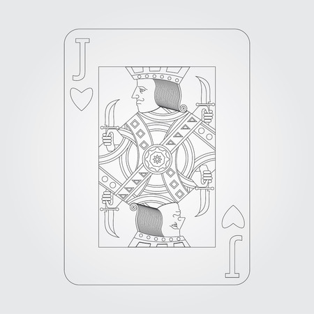 jack of hearts: Single playing cards vector: Jack of Hearts Illustration