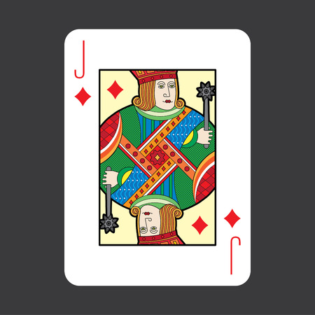 jack of hearts: Single playing cards vector: Jack Diamonds Illustration