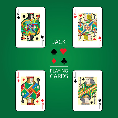 Set of playing cards vector: Jack