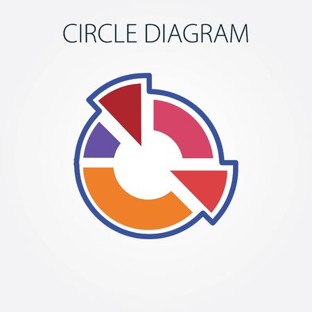 visualize: Simple vector illustration with circle diagram. To visualize the presentation and processing of data. Illustration