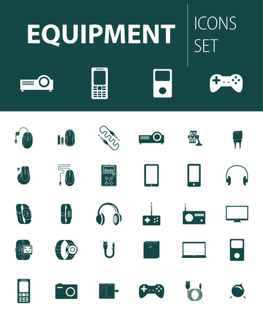 readymade: Set of ready-made simple vector icons: electronic equipment Illustration