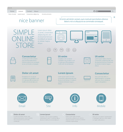 web template: web page template Illustration