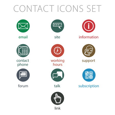 simple illustration for website flowcharts contact icons kit royalty free cliparts vectors and stock illustration image 52195172 - Website Flowcharts