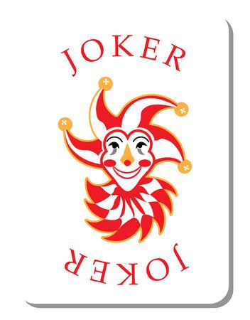 Spielkarten mit dem Joker aus einem Stapel von Spielkarten Standard-Bild - 52261376