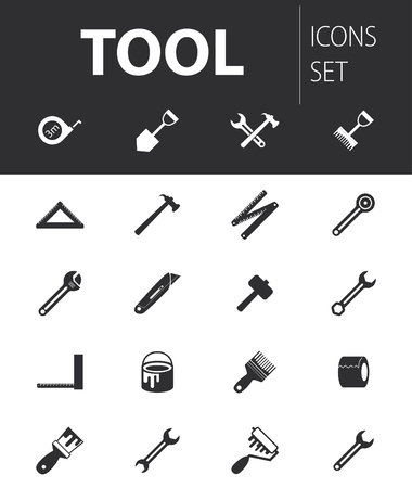 readymade: Set of ready-made simple vector icons: tool Illustration