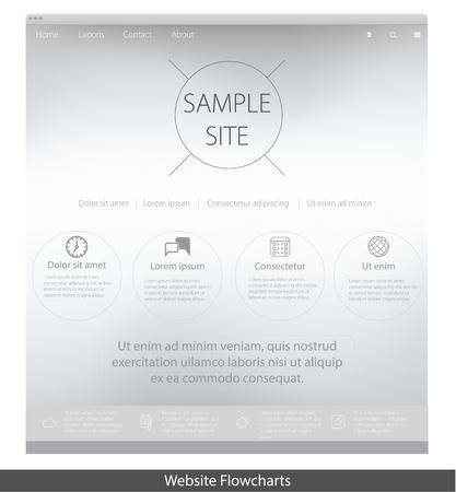 web: web page template Illustration