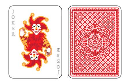 playing card symbols: Playing cards with the Joker from a deck of playing cards