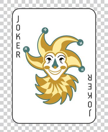 Speelkaarten met de Joker van een dek van speelkaarten