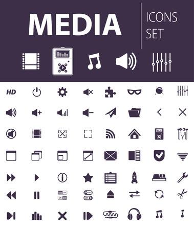 multimedia icons: media icons