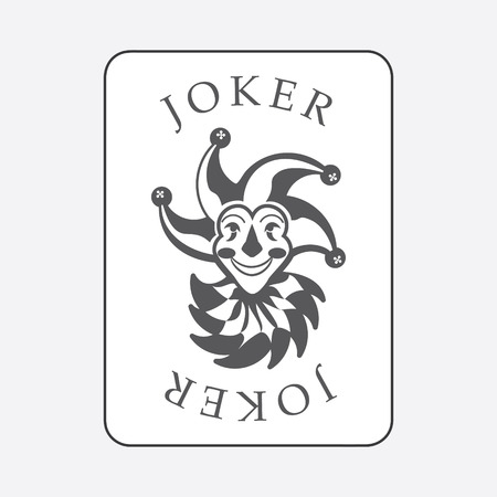 Playing cards with the Joker from a deck of playing cards